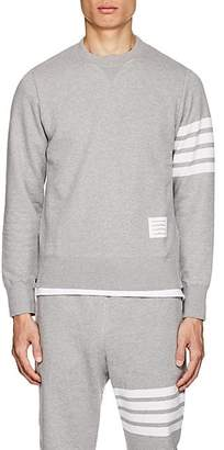 Thom Browne Men's Block-Striped Cotton French Terry Sweatshirt - Light Gray