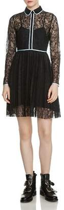 Maje Rabilo Pleated Lace Dress