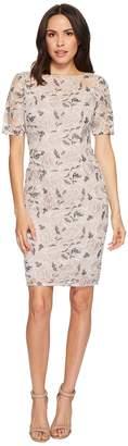 Adrianna Papell Petite Suzette Embroidery Sheath Women's Dress