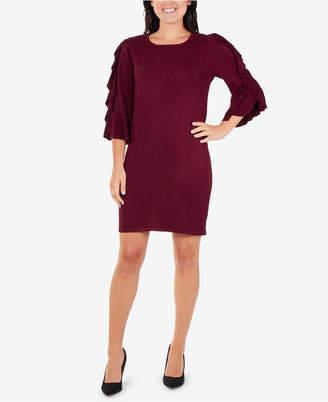 NY Collection Ruffle-Trim Bodycon Dress