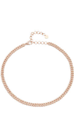 Shay 18k Rose Gold Mini Pave Link Choker Necklace
