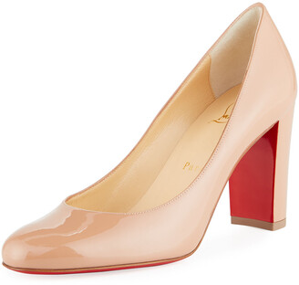 Christian Louboutin Lady Gena Patent Red Sole Pumps