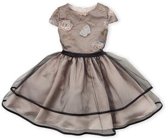 Little Angels (Girls 4-6x) Floral Embroidered Dress