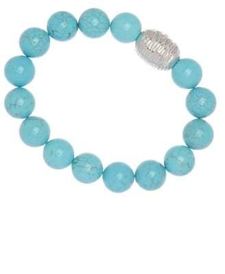 Simon Sebbag Sterling Silver Turquoise Magnesite Stretch Bracelet