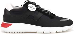 cf1ec3de85c28b Hogan Interactive Leather And Tech Fabric Sneakers Hxm3710aj10kez250y