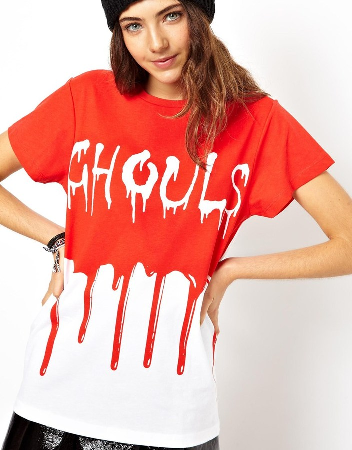 Asos Halloween T-Shirt with Ghouls Print