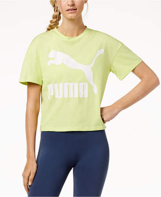 Puma Classics Cotton Relaxed Logo T-Shirt