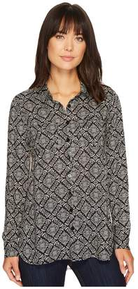 Stetson 1311 Paisley Lattice Print Top Women's Long Sleeve Pullover