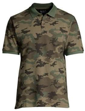 The Kooples Camo Short-Sleeve Polo