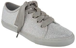 Isaac Mizrahi Live! SOHO Crystal Lace-UpSneakers
