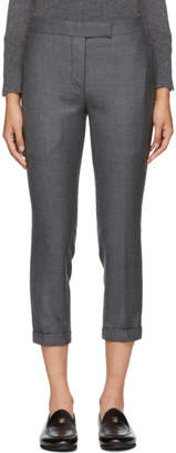 Thom Browne Grey Wool Low-Rise Skinny Trousers