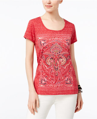 Style & Co Foiled Graphic T-Shirt, Only at Macy's $29.50 thestylecure.com