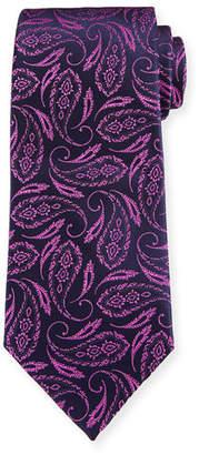 Charvet Feather Paisley Silk Tie