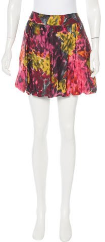Trina Turk Printed Mini Skirt
