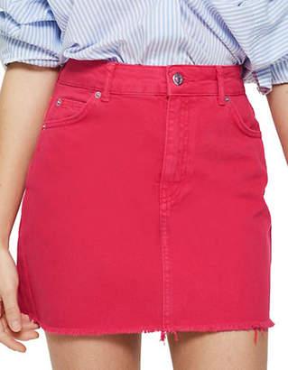 Topshop Watermelon Denim Skirt