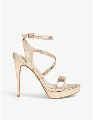 Aldo Poade flatform metallic heeled sandals