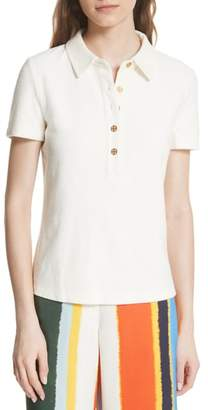 Tory Burch Lennox Terry Cloth Polo