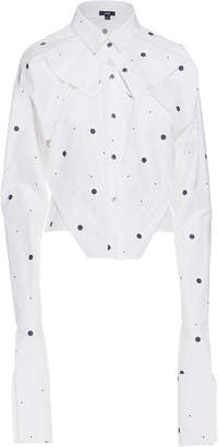 Ji Oh Cropped Folded Shirt