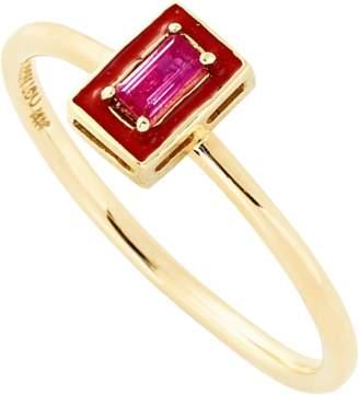 Alison Lou R Enamel Stack Ring