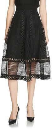 Maje Jenner Lace Midi Skirt $375 thestylecure.com