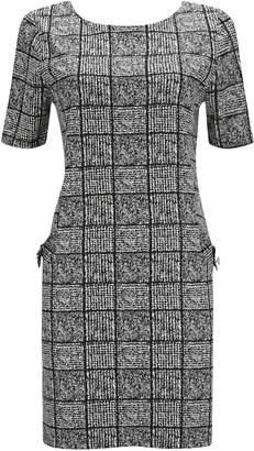 Wallis PETITE Grey Check Shift Dress