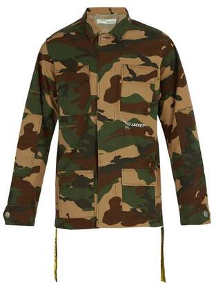 Off-White Off White Camouflage Field Jacket - Mens - Camouflage