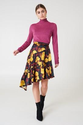 NA-KD Na Kd Shiny Asymmetric Skirt Black