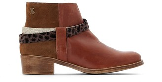 Le Temps Des Cerises Brook Leather Ankle Boots with 4cm Heel
