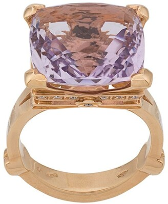 Pasquale Bruni 18kt gold Madame Eiffel amethyst and diamond ring