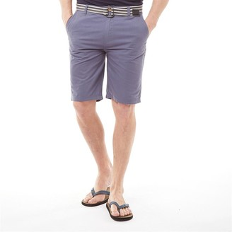 Kangaroo Poo Mens Cotton Shorts With Belt Indigo