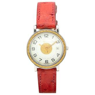 Hermes Sellier Red Steel Watches