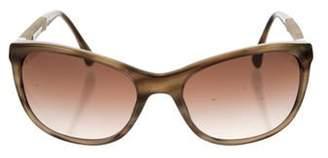 Chanel CC Denim-Accented Sunglasses brown CC Denim-Accented Sunglasses