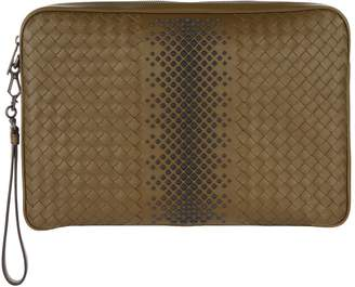 Bottega Veneta Intrecciato Studded Document Case
