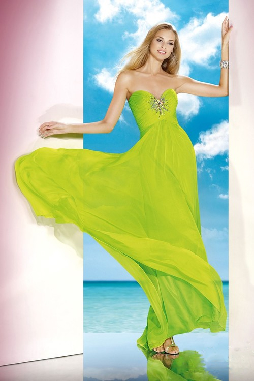 Alyce Paris B'Dazzle - 35591 Dress in Neon Lime