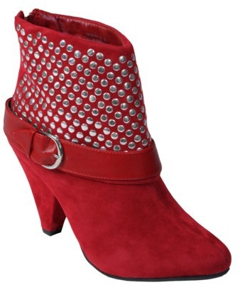 Womens Bamboo by Journee Studded Mid-heel Bootie