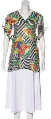 Milly Eze Dolmann Silk Tunic w/ Tags