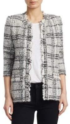 IRO Blanca Plaid Tweed Jacket
