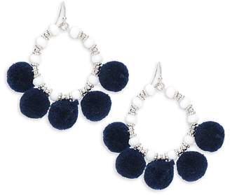 Saks Fifth Avenue Women's Pom Pom Hoop Earrings