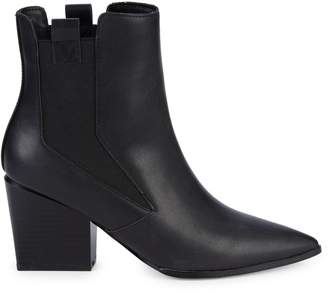 KENDALL + KYLIE Finigan Pull-On Stack Heel Booties