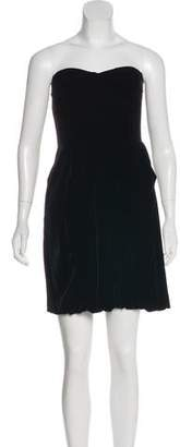Marc Jacobs Strapless Velvet Dress
