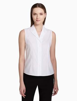 Calvin Klein button-down sleeveless top