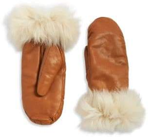 UGG Faux Fur Lined Shearling Cuff Mittens