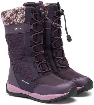 Geox Kids tall padded boots