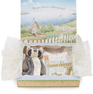 Bunnies by the Bay Roxy Sleepy Time Fitted Two-Piece Pajamas, Animal Buddy Blanket & Book Set
