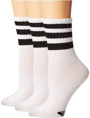 adidas Originals Ankle 3-Stripe 3-Pack Quarter Socks Women's Quarter Length Socks Shoes