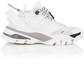Calvin Klein Women's Drawstring Nylon & Suede Sneakers - White
