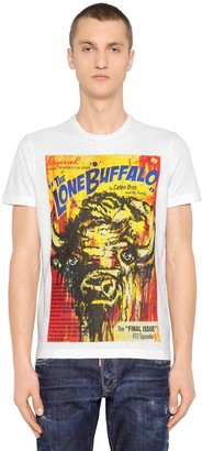 DSQUARED2 Surf Fit Buffalo Printed Jersey T-Shirt