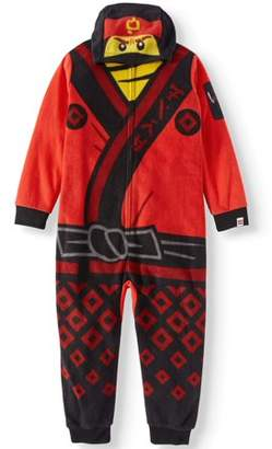 Lego Boy's Hooded Ninjago Union Suit Onesie Pajama Sleep Set (Big Boys & Little Boys)