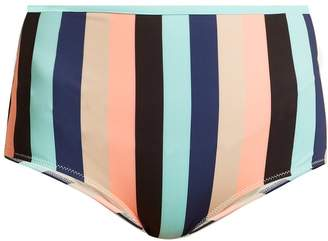 Solid & Striped The Brigitte high-rise striped bikini briefs