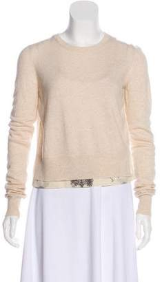 See by Chloe Printed Rib-Knit Trim Sweater